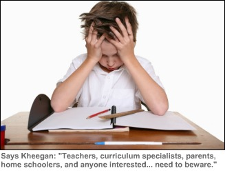"Photo of frustrated student from Annie Kheegan's blog, ""Afraid of Your Child's Math Textbook?"" in WriteSteps Common Core Inspired Writer e-newsletter"
